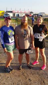 Darcy, Dion, and Melissa after the race! Photo by Jack Laurin
