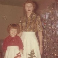 My mother and I wore matching skirts one year.